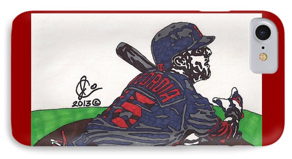 Dustin Pedroia 3 IPhone Case by Jeremiah Colley