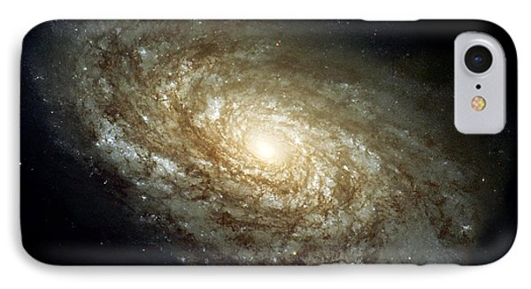 Dusty Spiral Galaxy  IPhone Case by Hubble Space Telescope