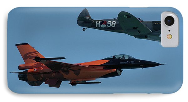 IPhone Case featuring the photograph Dutch F-16 And Spitfire by Tim Beach