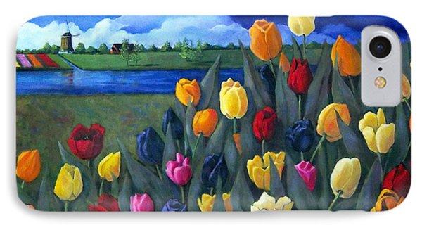 Dutch Tulips With Landscape IPhone Case by Joyce Geleynse