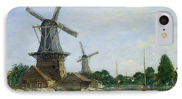 Dutch Windmills Phone Case by Eugene Louis Boudin