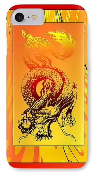 IPhone Case featuring the photograph Duvet Dragon Fire by Robert Kernodle