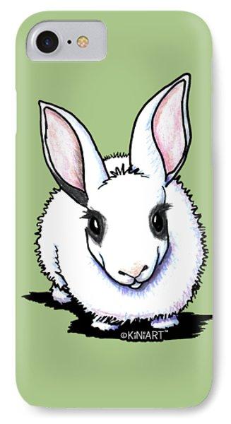 Dwarf Hotot Bunny Rabbit IPhone Case by Kim Niles