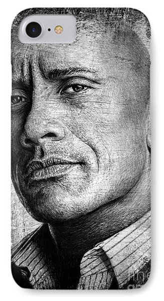 Dwayne Johnson IPhone Case by Andrew Read
