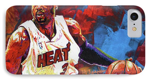 Dwyane Wade 2 IPhone Case by Maria Arango