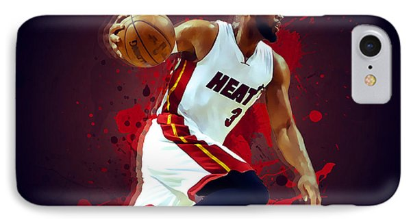 Dwyane Wade IPhone Case by Semih Yurdabak