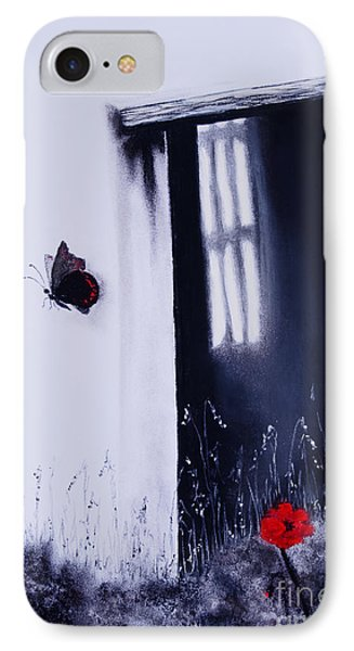 IPhone Case featuring the painting Dying Is Easy by Stanza Widen