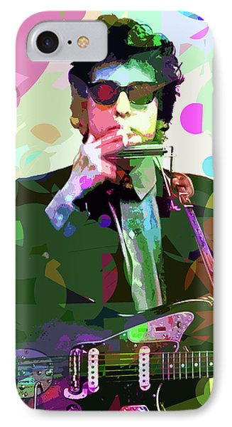 Dylan In Studio IPhone Case by David Lloyd Glover