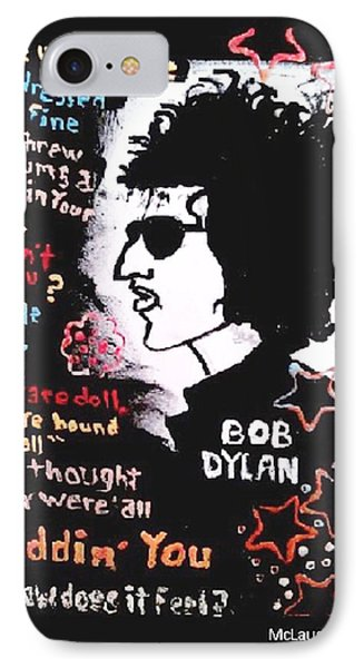 Dylan Lyric Portrait IPhone Case by Gregory McLaughlin