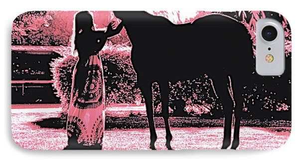 Dylly And Lizzy Pink IPhone Case by Valerie Rosen