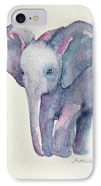 E Is For Elephant IPhone Case by Richelle Siska
