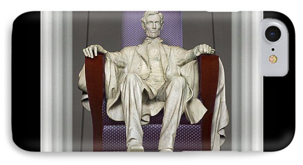 Ea-z-chair Lincoln Memorial IPhone Case by Mike McGlothlen