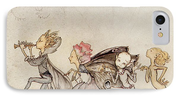 Each One, Tripping On His Toe, Will Be Here With Mop And Mow IPhone Case by Arthur Rackham