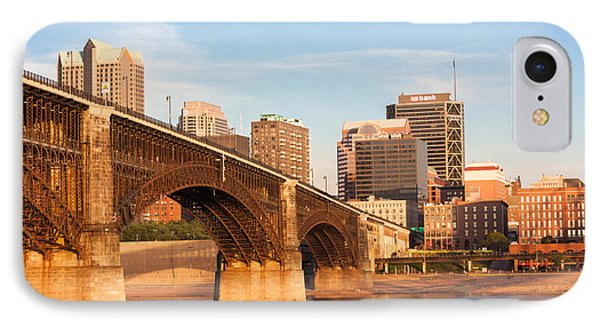 Eads Bridge At St Louis IPhone Case by Semmick Photo