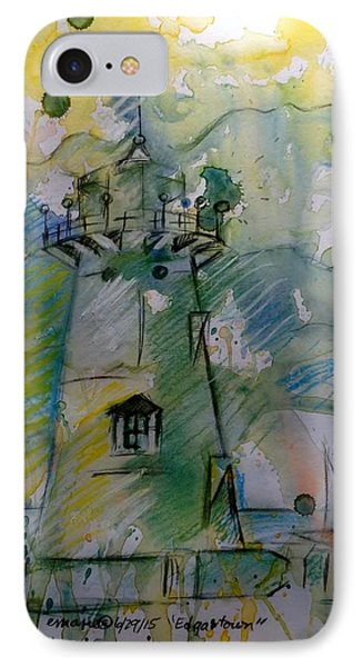 Edgartown Lighthouse IPhone Case by Elaine Marie