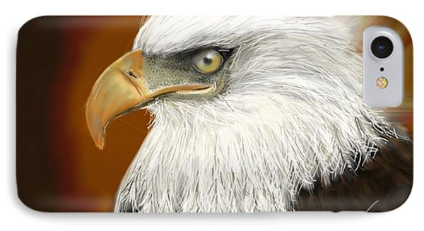 IPhone Case featuring the digital art Eagle American by Darren Cannell