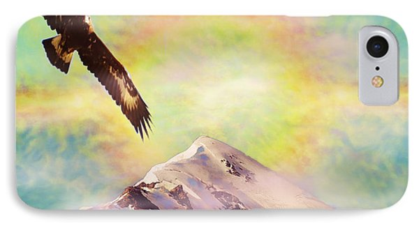 Eagle And Fire Rainbow Over Mt Tetnuldi Caucasus II IPhone Case by Anastasia Savage Ealy