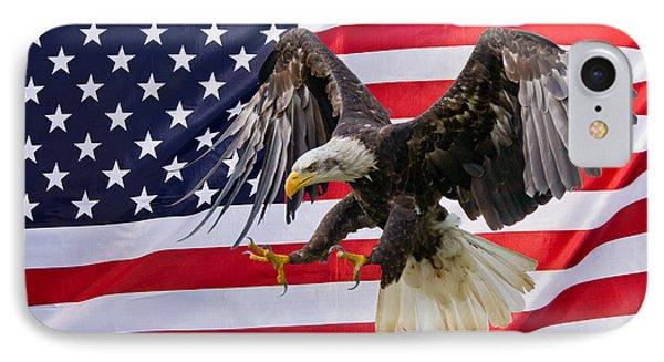Eagle And Flag IPhone Case