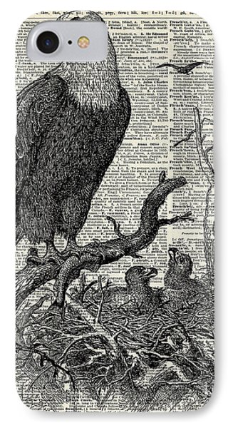 Eagle And Its Nest  IPhone Case