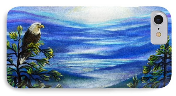 IPhone Case featuring the pastel Eagle Blue Ridge Mountain Sunrise by Patricia L Davidson