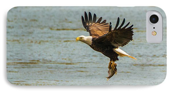 Eagle Departing With Prize Close-up IPhone Case