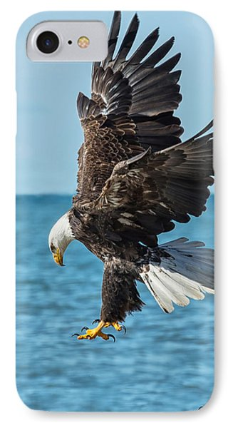 Eagle Dive IPhone Case by CR  Courson