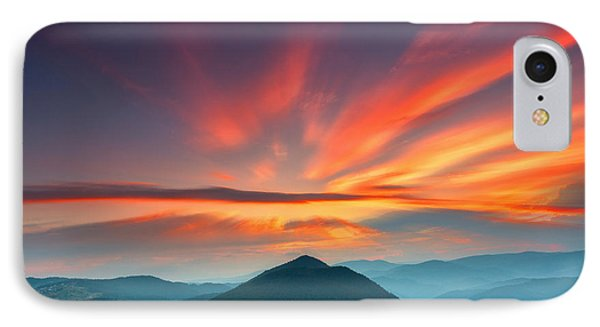 Mountain Sunset iPhone 7 Case - Eagle Eye by Evgeni Dinev