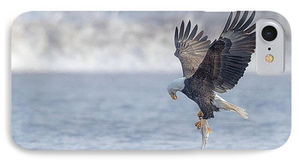 Eagle Fishing  IPhone Case by Kelly Marquardt