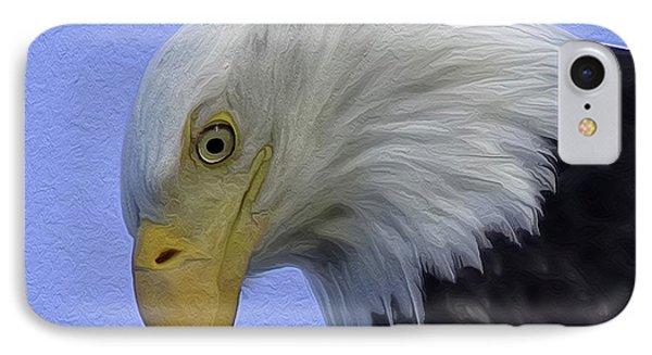 Eagle Head Paint IPhone Case by Sheldon Bilsker
