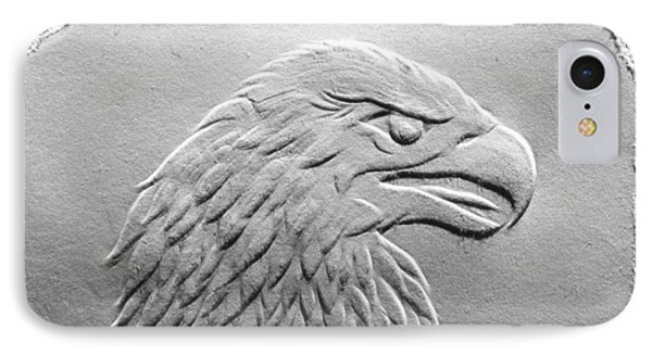 Eagle Head Relief Drawing IPhone Case by Suhas Tavkar