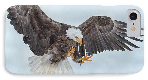 Eagle In The Clouds IPhone Case by CR Courson