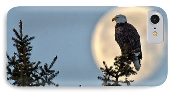 Eagle Moon IPhone Case by Fiskr Larsen