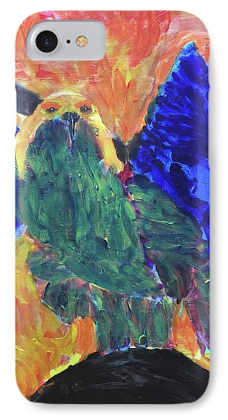 IPhone Case featuring the painting Standing Outside The Fire by Donald J Ryker III