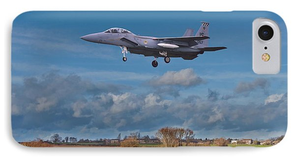 Eagle On Finals IPhone Case by Paul Gulliver