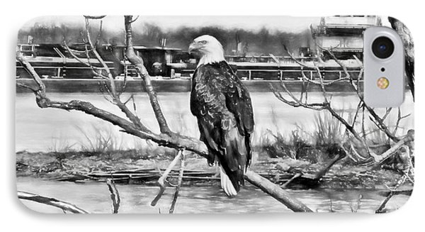 Eagle On The Illinois River IPhone Case