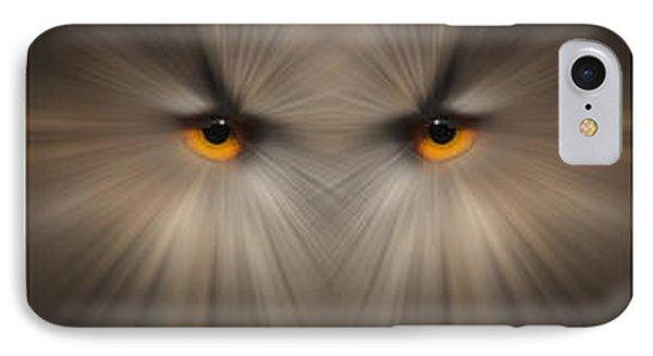 Eagle Owl Eye Triptych IPhone Case