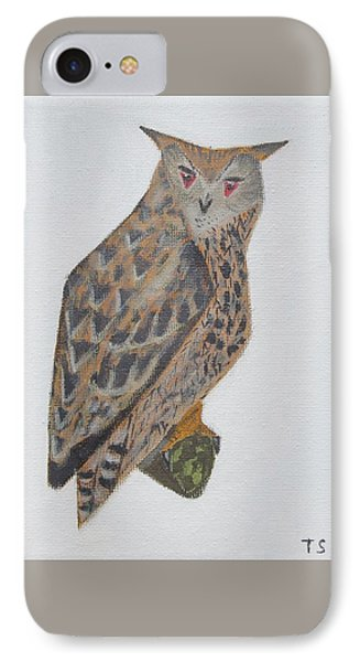 Eagle Owl IPhone Case by Tamara Savchenko