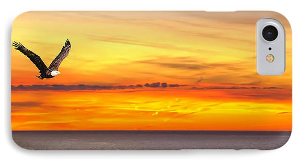Eagle Panorama Sunset IPhone Case by Randall Branham