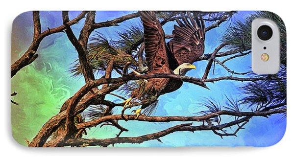 IPhone Case featuring the painting Eagle Series 2 by Deborah Benoit
