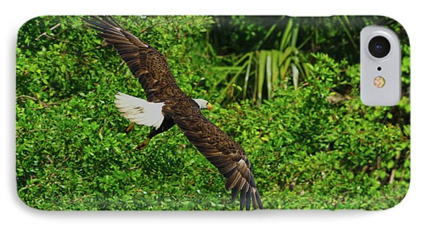 IPhone Case featuring the photograph Eagle Series Flight by Deborah Benoit