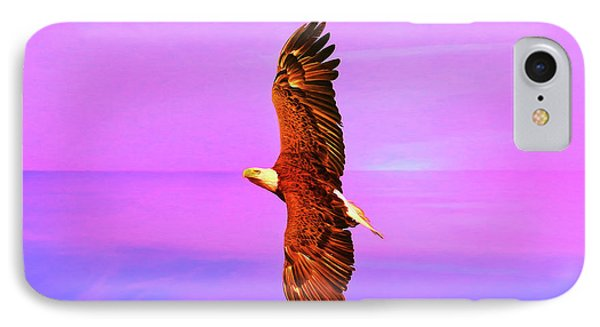 IPhone Case featuring the painting Eagle Series Painterly by Deborah Benoit