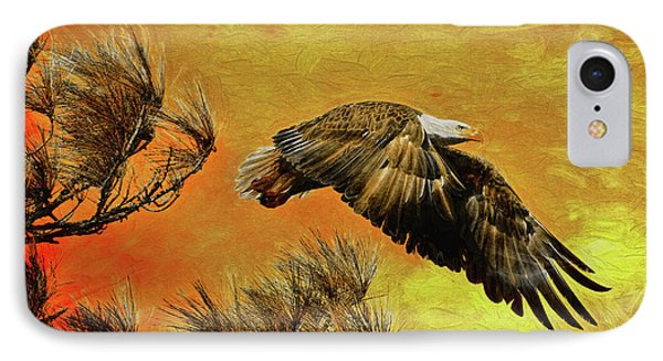 IPhone Case featuring the painting Eagle Series Strength by Deborah Benoit