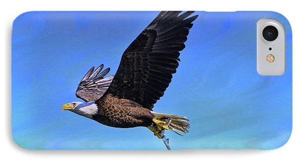 IPhone Case featuring the photograph Eagle Series Success by Deborah Benoit