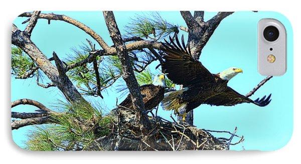 IPhone Case featuring the photograph Eagle Series The Nest by Deborah Benoit
