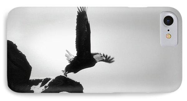 Eagle Takeoff At Adak, Alaska IPhone Case by John A Rodriguez