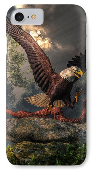 Eagle Vs Cobra IPhone Case by Daniel Eskridge
