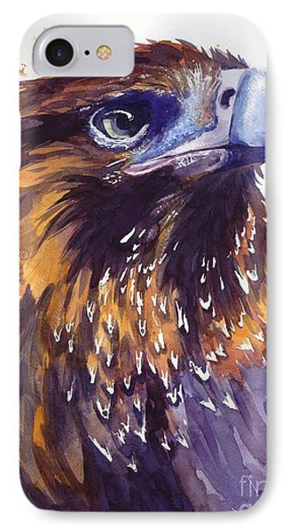 Sparrow iPhone 7 Case - Eagle's Head by Suzann's Art