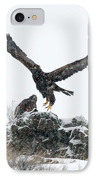 Eagles In The Storm IPhone Case by Mike Dawson
