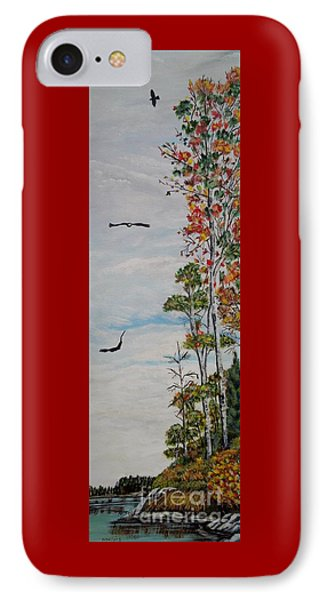 IPhone Case featuring the painting Eagles Point by Marilyn  McNish