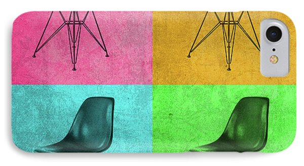 Eames Chair Vintage Pop Art IPhone Case by Design Turnpike